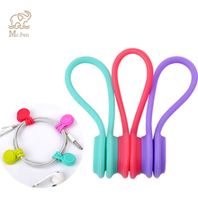 3/8pcs Magnet Earphone Cable Holder Clips Korean Kawaii Stationary Cord Winder Organizer Desk Accessory Office Desk Set