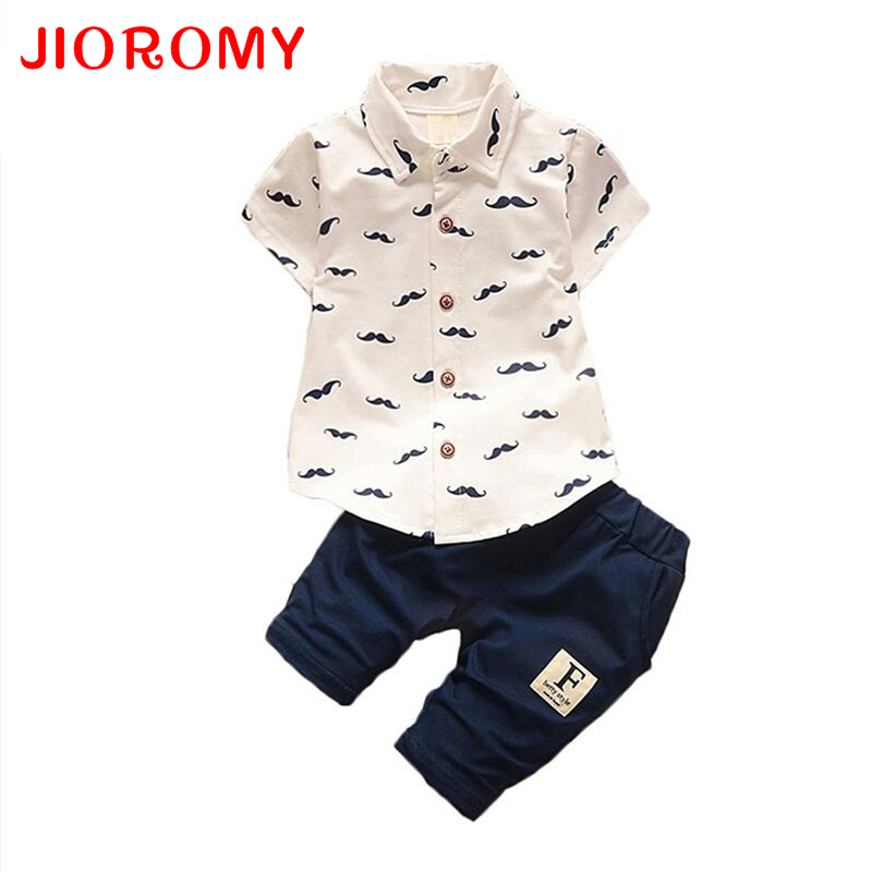 JIOROMY Boys Clothing Set 2017 Summer Casual Print Shirts + Shorts Children Clothing Sets For 1-4Y Kids Clothes suit