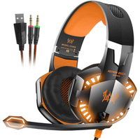 Hot Sales EACH Stereo Gaming Headphones LED Light Over Ear Game Headset Headband With Microphone Volume
