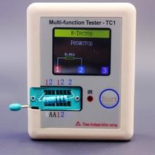 러시아어 다기능 TC1 트랜지스터 테스터 TFT 다이오드 3 극 커패시턴스 미터 LCR ESR NPN PNP MOSFET IR 테스터