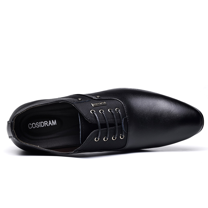 0e16bf0404 COSIDRAM Split Leather Pointed Toe Men Dress Shoes Business Wedding Shoes  Oxfords Formal Shoes For Male 2018 Spring 47 BRM 020-in Formal Shoes from  ...