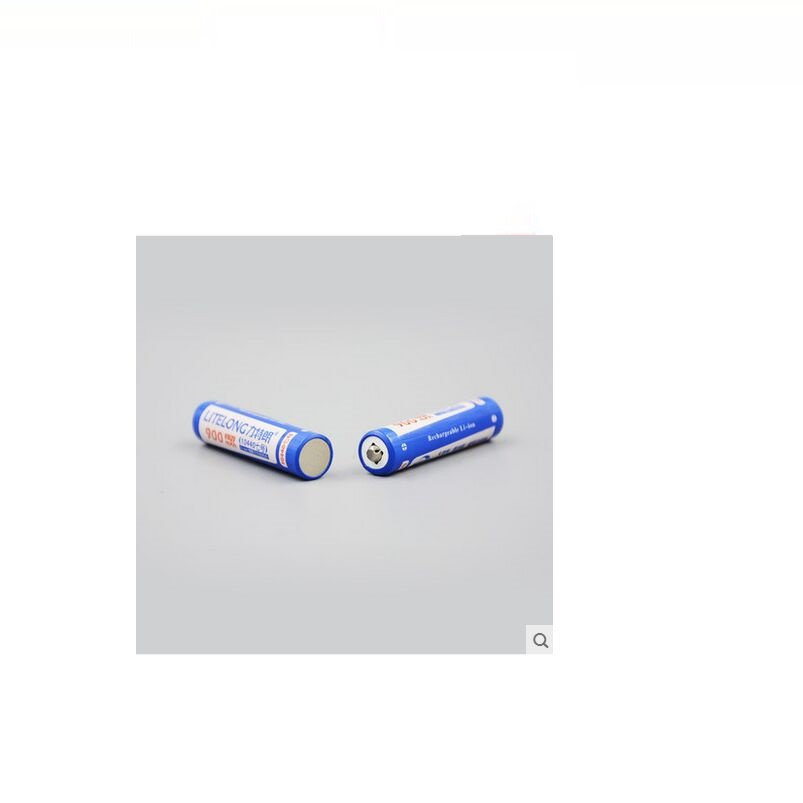 Large capacity 3.7v 10440 lithium battery flashlight electronic cigarette 900MAH <font><b>AAA</b></font> rechargeable batteries image