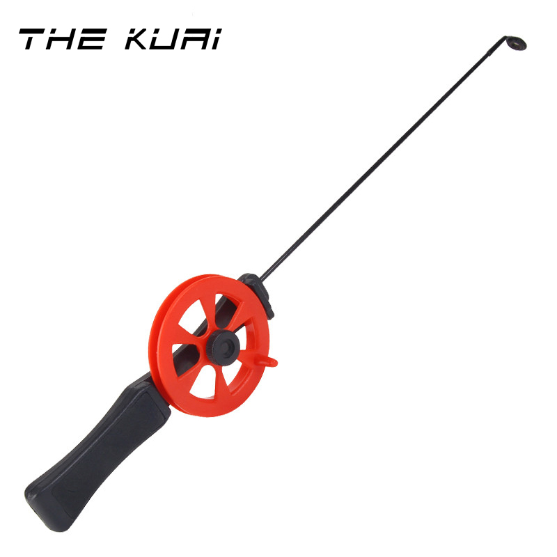 THEKUAI Ice Fishing Rod With Reel Outdoor Sport Fish Tackle Pole Pesca Combination Conveniently Carrying 30g-in Fishing Rods from Sports & Entertainment