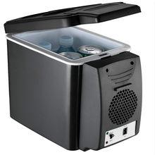Mini refrigerador 2 em 1 6l para carro, frigorífico para viagem, elétrico e portátil, com caixa de geladeira congelador de caixa,