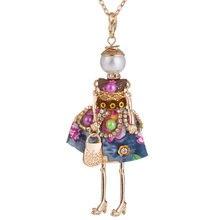 Модное Очаровательное ожерелье с куклой подвески очаровательные