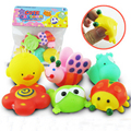 6 Pcs Linda Mista Animais Brinquedos do Banho Interessante Sqeeze Som Plástico Macio Kid Banho Do Bebê Jogo Do Presente