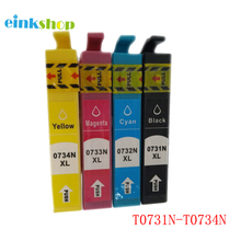Free shipping 20PK inkjet cartridge compatible EPSON ink T073N T0731-T0734 T10 T20 T30 TX 105 CX 7300 TX 300F TX 610FW print ink free shipping 73n t0731hn t0731hn 732n 733n 734n refillable ink cartridge for epson t30