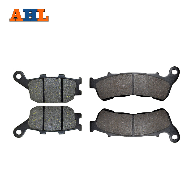AHL Motorcycle Front & Rear Brake Pads For <font><b>Honda</b></font> <font><b>700</b></font> <font><b>Integra</b></font> Scooter NC700 SC/ XAC/ XC 2011-2013 XL700VA Transalp ABS 08-16 image