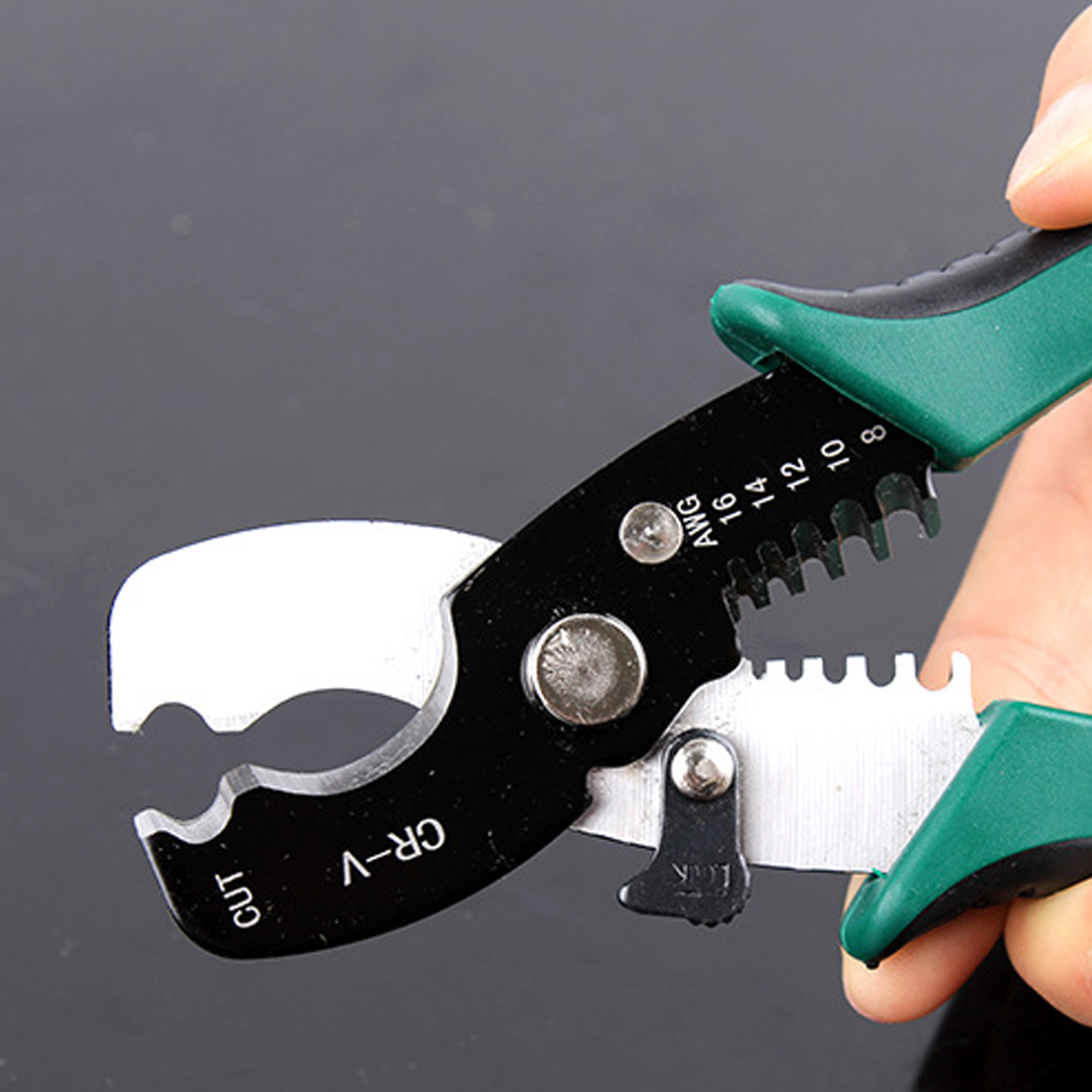 Hand Werkzeuge 8 draht Stripper Kabel Schneiden Scissor Abisolieren Zangen Cutter 1,6-4,0mm Multi Werkzeug High Zangen Carbon Stahl