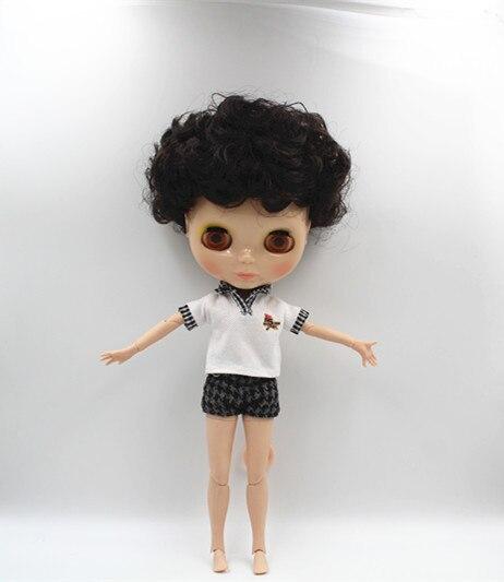 Blyth doll Black, explosive hair naked doll, 19 joint human body, cute fashion gift doll. tetiana tikhovska paper doll