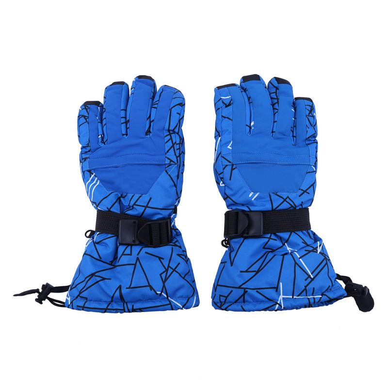 Winter Outdoor Skiing Gloves Waterproof Men Cycling Gloves Thickened Anti-skid Full Finger Gloves Cold Weather Sports Mittens