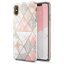 For iPhone Xs Max Case i Blason Cosmo Lite Stylish Premium Hybrid Slim Protective Bumper Marble Back Case with Camera Protection