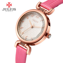Pink Watch For Women With Gift Box Jewelry Slim Whatch For Small Wrist Fashion Watch Casual Dress Montre Femme JULIUS JA-854