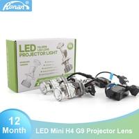 RONAN New H4 Bi LED Mini Projector Lens Hi/Low 5500K Car Headlight Upgrading 55W*2 play and plug retrofit car styling