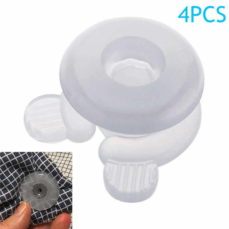 New 4pcs/Set Quilt Cover Fixed Clip Sheet Fastener Blankets Fixed Button Grippers Tidy Bed Duvet Donuts Holders Household Tools
