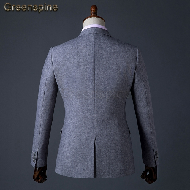 Mens Suit Jacket Formal Business Blazer Pants Men Groom Three Pieces Party Clothing Single Button Dress For Weddings ZM559