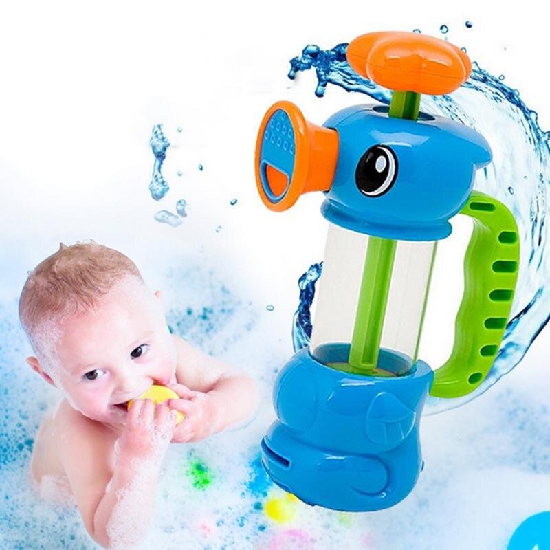 Cartoon Sea Horse Spray Water Pump Toy Baby Shower Bath Toys for Children Kids Bathtub Bathroom Swimming Pool Beach toys