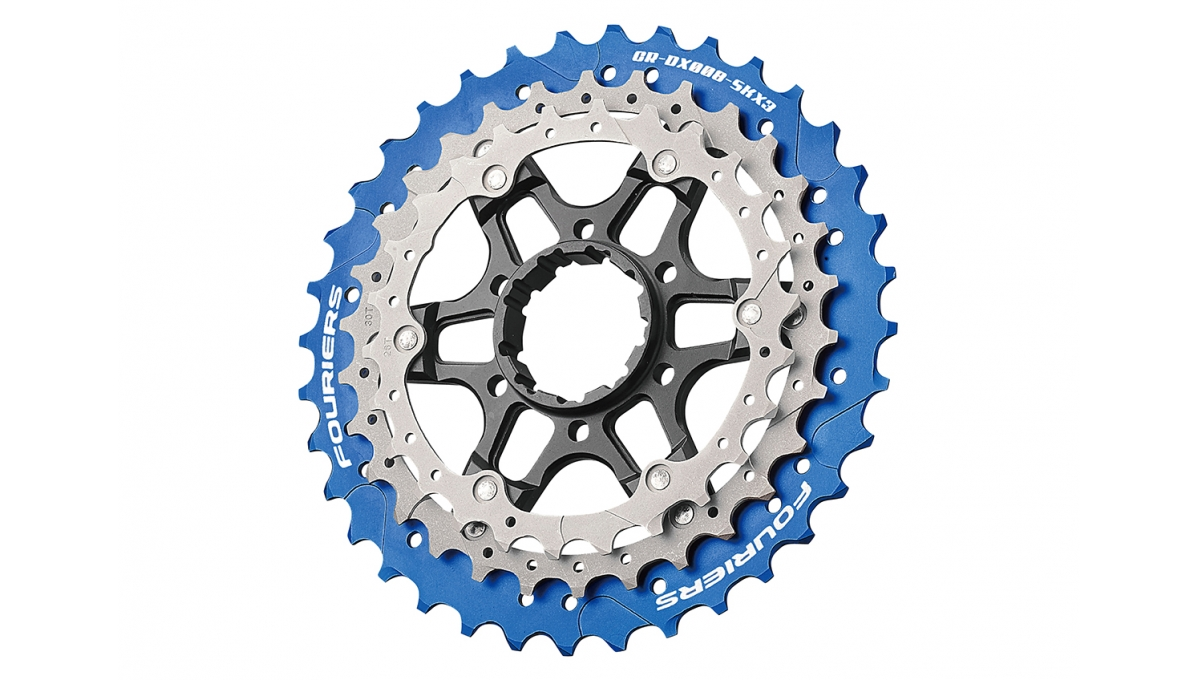 Fouriers CNC Three Piece Rear Sprocket 26T 30T 36T Chain Ring Bike Chainrings Mage SKX3 for S H I M A N O 11 Speed 11-28T 1pc fouriers cnc bike bicycle single chain ring 34t 36t chainrings p c d 104 for s h i m a n o oval shape narrow wide tooth