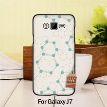 Diy Colorful Printing Drawing Plastic  phone case For case GALAXY J7 2015  Retro DNA Science Illustration