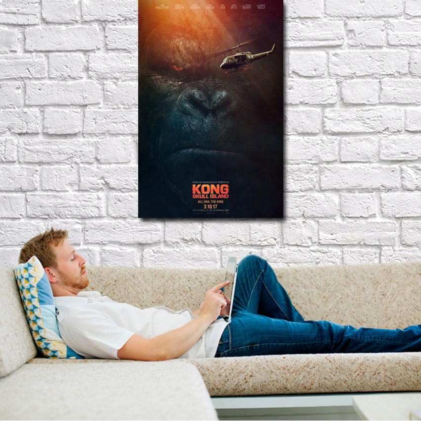 2017 Kong Skull Island Hot Movie Silk Or Canvas Poster 24x36 13x20 inch King Kong Picture(click to see more)-1