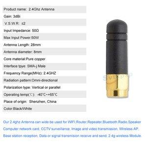 Image 2 - Высоким коэффициентом усиления SMA и RP SMA мужской 3dBi 2,4 ГГц роутер с антенной Booster Скрытая Bluetooth антенны 2,4g модуль WI FI Антенна внешняя антенна
