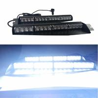 32LED 32W Lightbar Visor Light Windshield Emergency Hazard Warning Strobe Beacon Split Mount Deck Dash Lamp led strobe