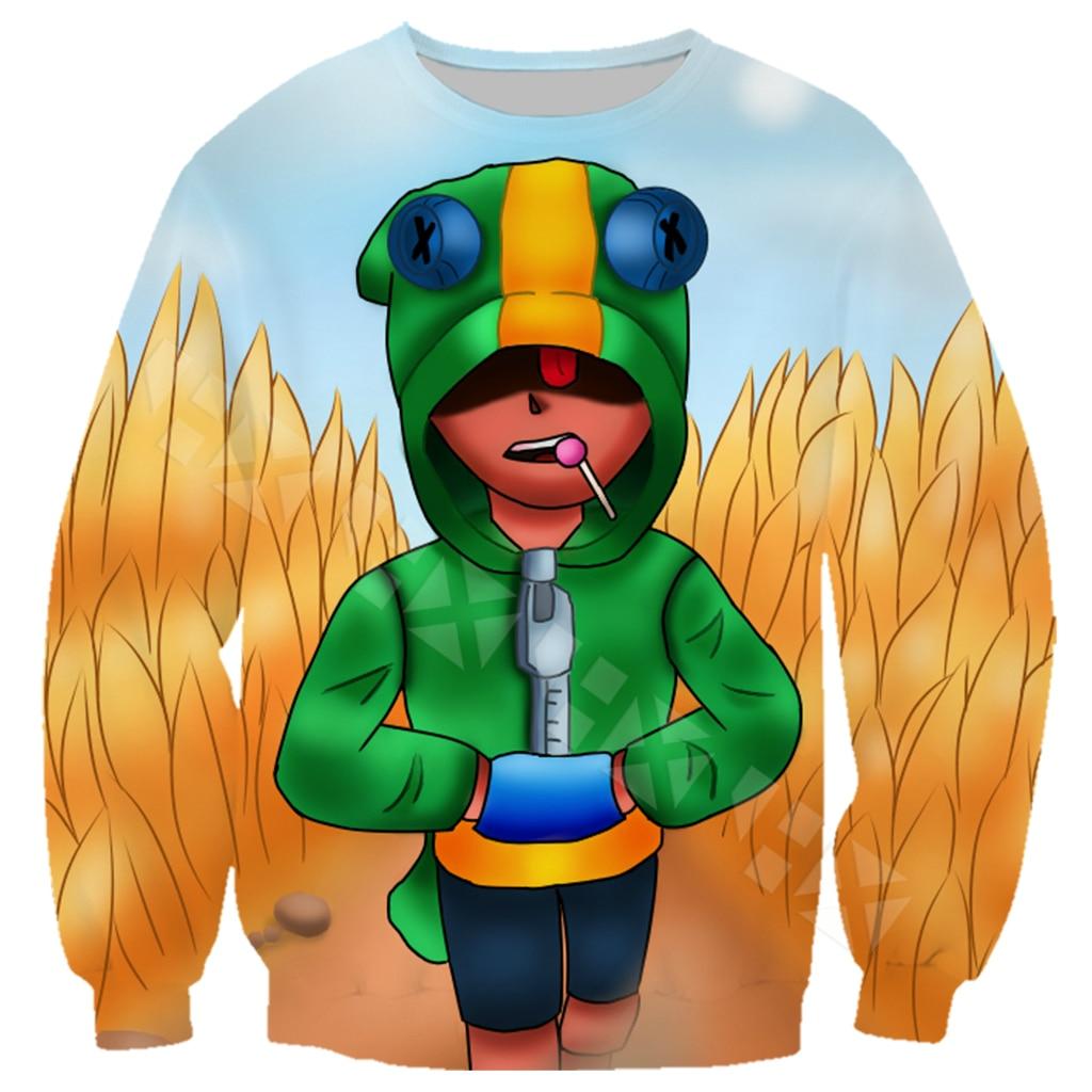 Jivoi Gallery Brawl Stars Leon T Shirt Men Clothing Hoodies
