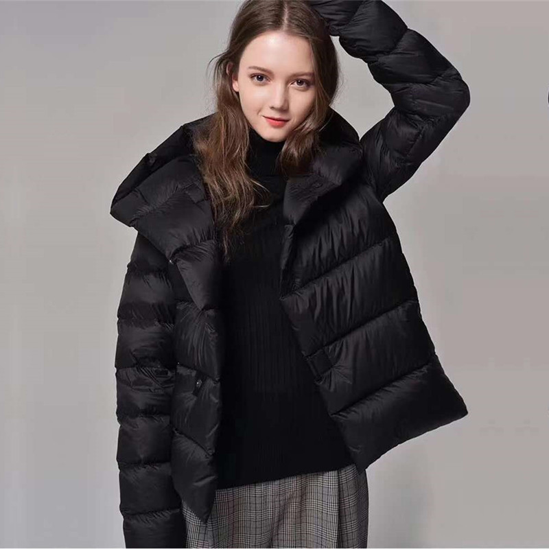 Ship from Russia Women Fashion Short   down   jacket Casual Solid Long Sleeve Hooded Outwear women   down     coats   jackets warm parka