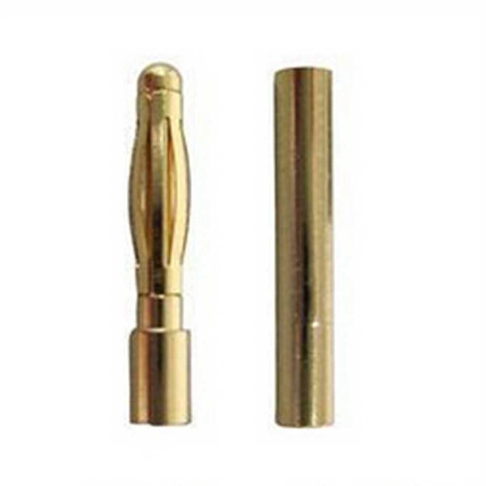 Высокое качество 10 пара/лот Медь бесщеточный Двигатель высокое качество Banana Plug 2 мм Золотая пуля Разъем покрытием для ESC Батарея