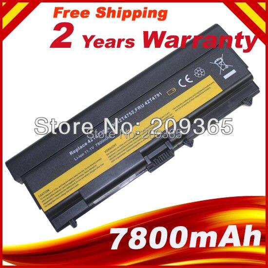 купить 7800mAh Battery For Lenovo ThinkPad Edge E40 E50 L410 L412 L420 L421 L510 L512 L520 SL410 SL510 T410 T420 T510 T520 W510 W520 по цене 1543.16 рублей