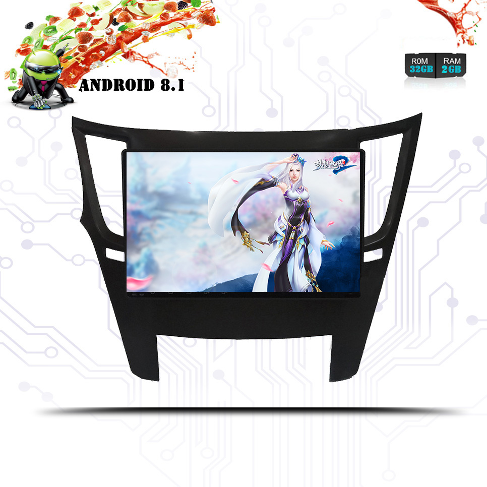 Android 8.1 Car DvD GPS Multimedia Player For Subaru Legacy Outback 2009 - Car DvD Navigation Raido Video Audio Car Player 2 din