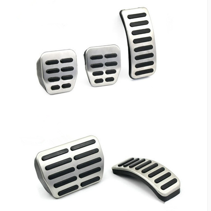 Stainless Steel Car Gas Brake Pedals For Audi TT Pedale VW SEAT Golf 3 4 Polo 9N3 For SKODA Octavia Ibiza Fabia A1 A2 A3 GTI-in Car Stickers from Automobiles & Motorcycles