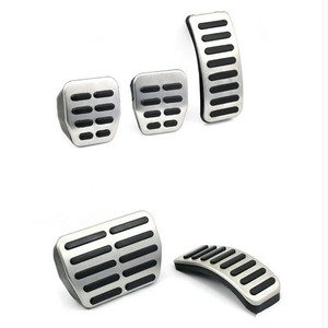 Image 1 - Stainless Steel Car Gas Brake Pedals For Audi TT Pedale VW SEAT Golf 3 4 Polo 9N3 For SKODA Octavia Ibiza Fabia A1 A2 A3 GTI