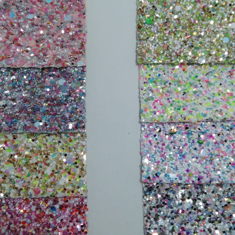 91x134cm Synthetic Leather Vinyl Fabric Chunky Glitter Leather Fabric for Bows DIY accessories P2256