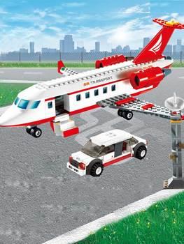 GUDI 334 pcs מטוס צעצוע אוויר אוטובוס דגם מטוס אבני בניין סטי דגם DIY לבנים קלאסי בני צעצועי תואם עם
