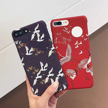 Ultra-thin Case For iPhone 6 7 Plus PC Hard Chinese ethnic characteristics bird Phone case For iPhone 6 6s 7 8puls back covers стоимость