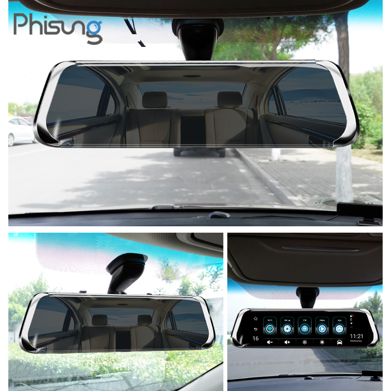 Phisung E08 più Auto DVR 10 IPS di Tocco 4G Specchio DVR Android ADAS GPS FHD 1080P WIFI auto cancelliere rear view mirror con la macchina fotografica - 4