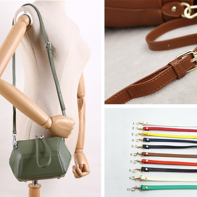 120cm Leather Shoulder Bag Strap Handle Bag Accessories DIY Crossbody Bags Adjustable Belt Handle Replacement 120cm replacement metal chain for shoulder bags handle crossbody handbag antique bronze tone diy bag strap accessories hardware
