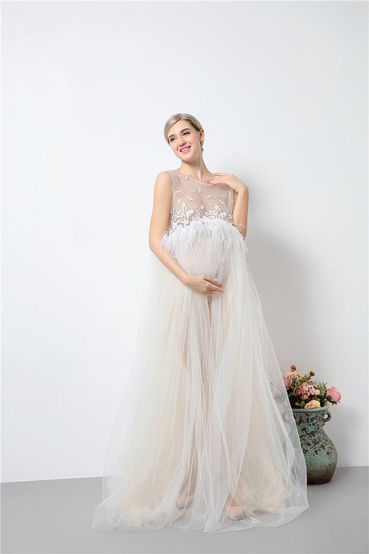 Mode snörning moderskapsklänningar långa moderskap fotografi - Graviditet och moderskap - Foto 2
