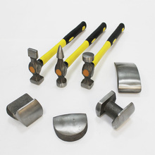 pack of 7 pieces panel beating tools with dollies and hammers