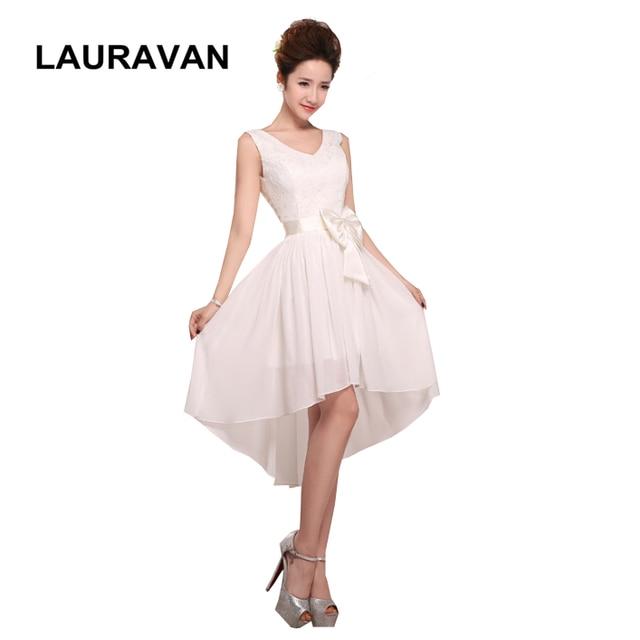 ivory color pretty semi formal short womans high low short front long back  elegant formal chiffon bridesmaid dresses cheap 6203ca98a