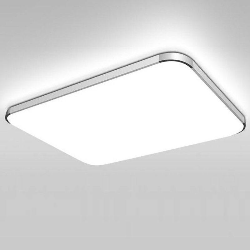 Acrylic led ceiling luminaire rectangular with minimalist bedroom lamps and modern lamp