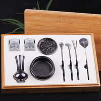 2016 High Quality Set Copper Incense Burner Fine Censer Tool Box Gifts And Crafts Home Decorations Incense Holder Aroma Furnace