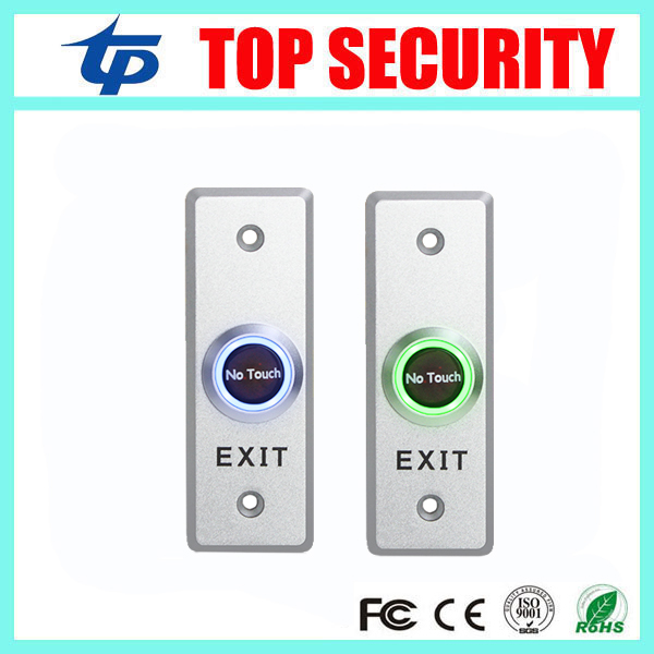 Zinc Alloy Door Exit Button No Touch Infrared Release Push Switch With Led Light For Access Control System Electronic Door Lock 10pcs a lot door access control exit button door release exit switch good quality zinc alloy push release button with led light