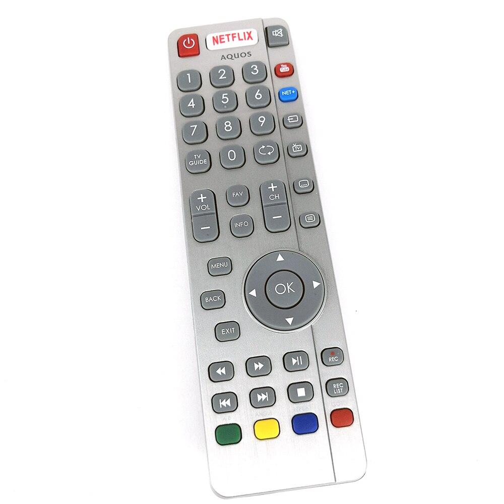 Новый оригинальный пульт дистанционного управления DH1903130519 для Aquos SHARP TV Remote NETFLIX REC Youtube Fernbedienung