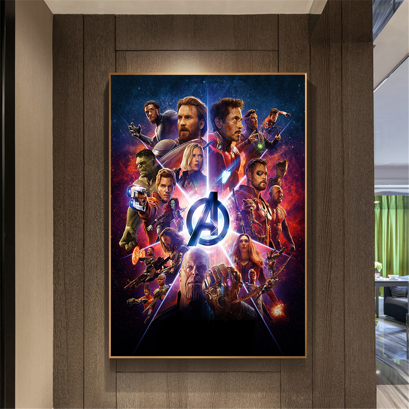 The Avengers Thanos poster wall decoration photo print 24x24 inches
