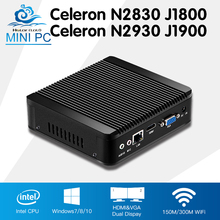 Mini PC Celeron N2930 J1900 Quad Core Window 7 Celeron N2830 J1800 Dual Core Windows 10 Mini Computer Desktop DDR3 RAM HTPC HDMI