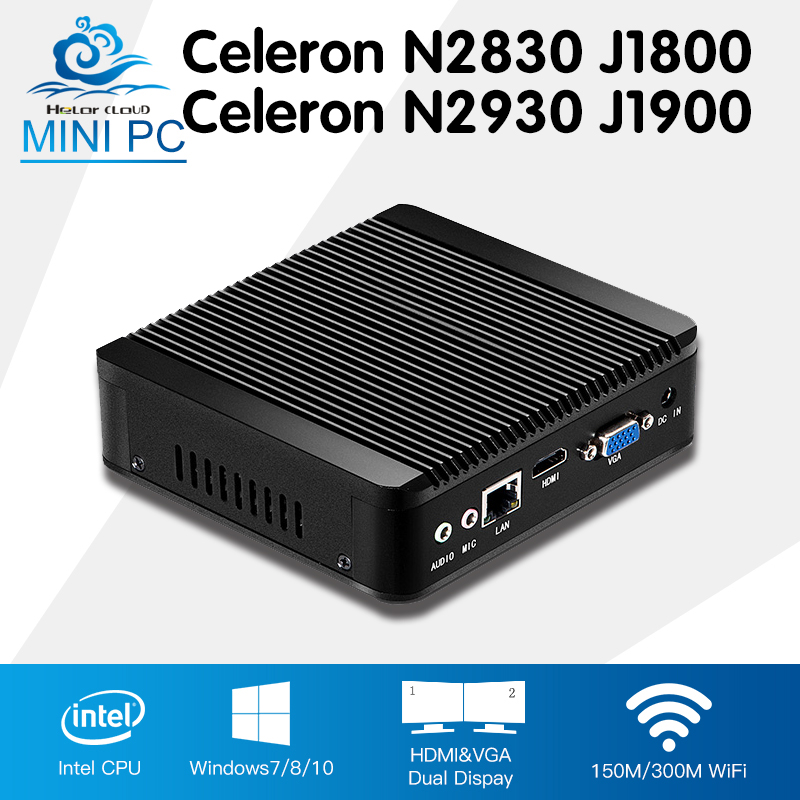 Mini PC Celeron N2930 J1900 Quad Core Window 7 Celeron N2830 J1800 Dual Core Windows 10 Mini Computer Desktop DDR3 RAM HTPC HDMI thin client mini itx computer intel celeron n3150 14nm quad core dual hdmi vga 1 rs232 4 usb3 0 300m wifi window 10 mini pc