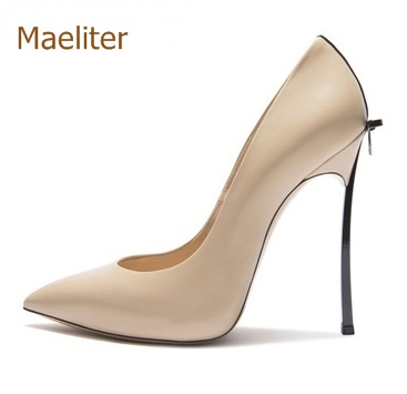 2018 New Arrival Metal High Heels Pumps Women Hot Selling Elegant Stiletto Heels Dress Shoes Pointed Toe Bowtie Shoes Wedding elegant women s round toe pumps with stiletto and suede design