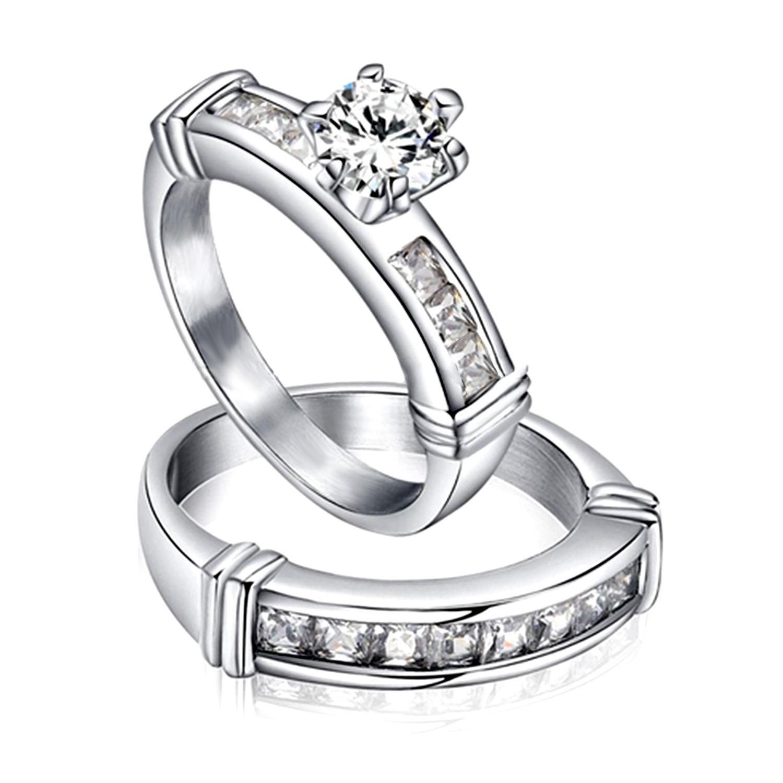 Unique Cheap Good Quality Wedding Ring Sets